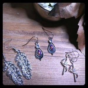 3 Pairs Of NEW Fashion Earrings